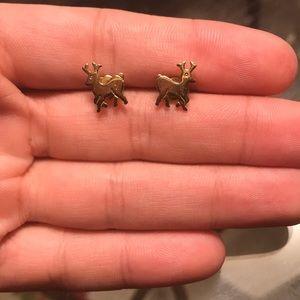 Avon Goldtone Reindeer Earrings